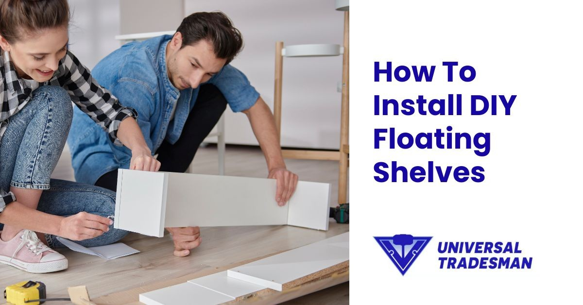 how to install diy floating shelves