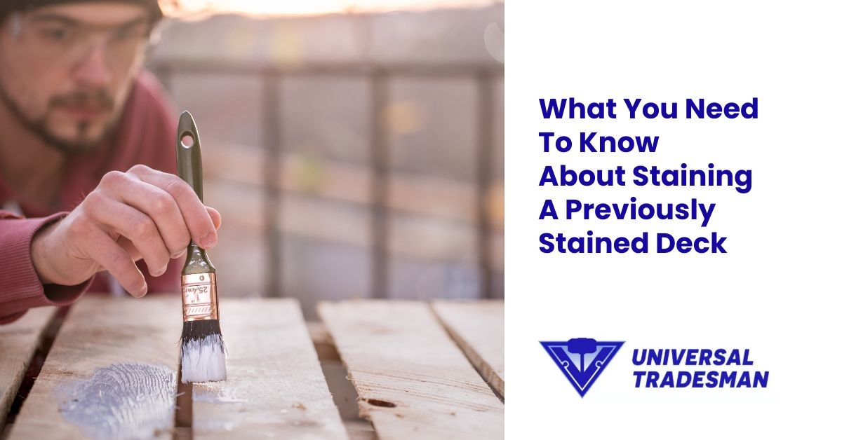 what you need to know about staining a previously stained deck